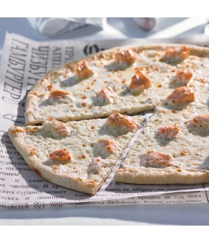 Пицца с семгой  и сыром  горгонзола